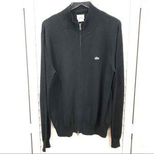 Lacoste Black Zip Up Sweater